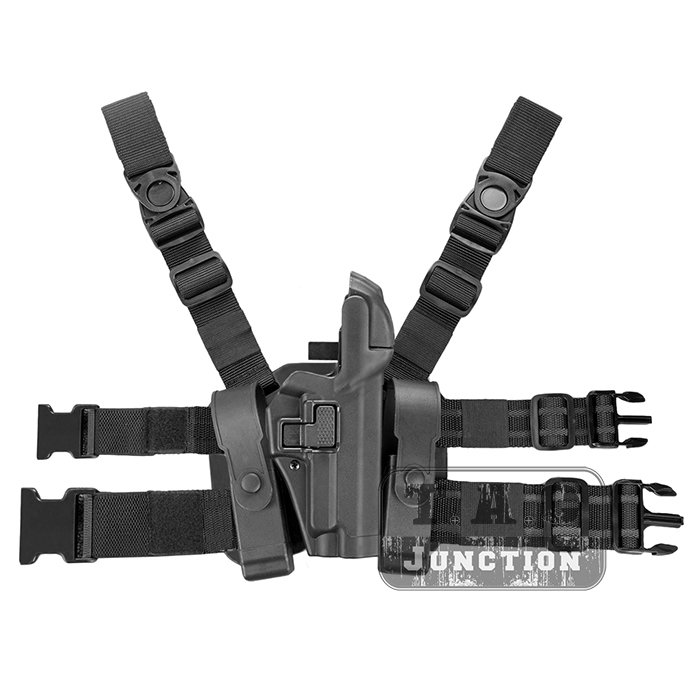 Tactical Serpa Concealment Level 3 Retention Auto Lock Duty Right Hand Drop Leg Thigh Pistol Holster