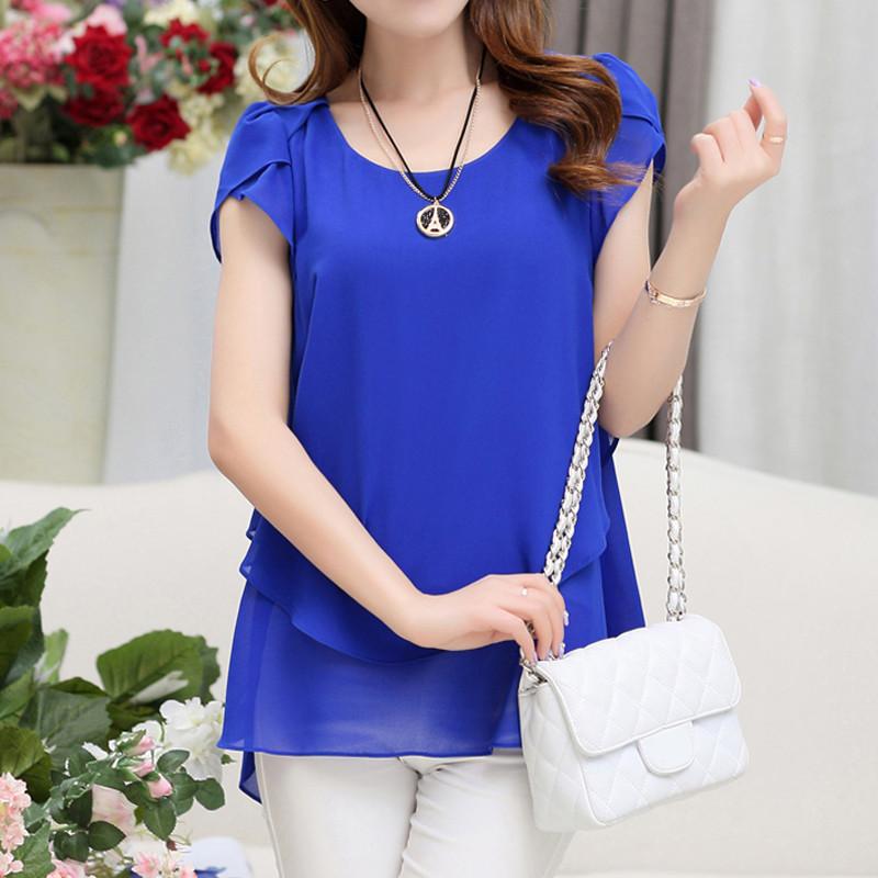 short sleeve chiffon blouse (19)