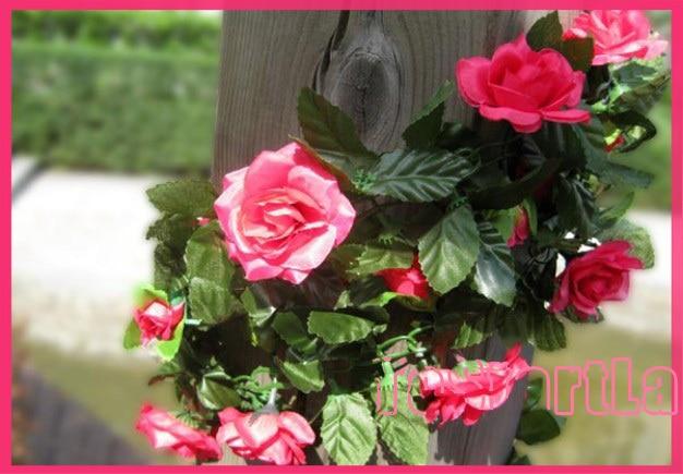 fake artificial Rose flower vines artificial flower rattails for wedding decoration 48 flowers