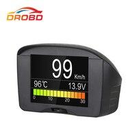 Autool x50 além de multi-função carro obd inteligente medidor digital alarme medidor de temperatura da água medidor de velocidade de tensão digital display