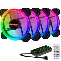 ir led Adjustable Computer Case PC Cooling Fan RGB Adjust LED 120mm Quiet + IR Remote New computer Cooler Cooling RGB Case Fan CPU (4)