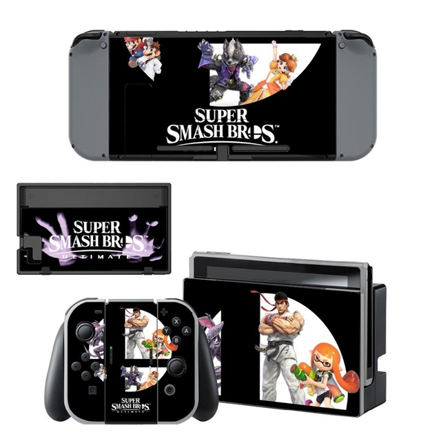 Protector Sticker of Super Smash Bro s Decal Vinyl Skin for Nintend Switch NS Console Controller +Stand Holder Protective Film 5