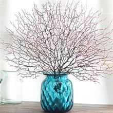 Искусственные растения с павлиньими коралловыми ветками для свадебной вечеринки, товары для дома, Декоративные искусственные цветы, садовые искусственные растения, Декор