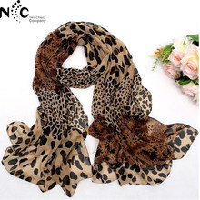 Coffee Black Leopard Print Square Scarves Printed 2018 New Design Crepe Satin Silk Winter Ladies Scarves Wraps 157*73cm(China)