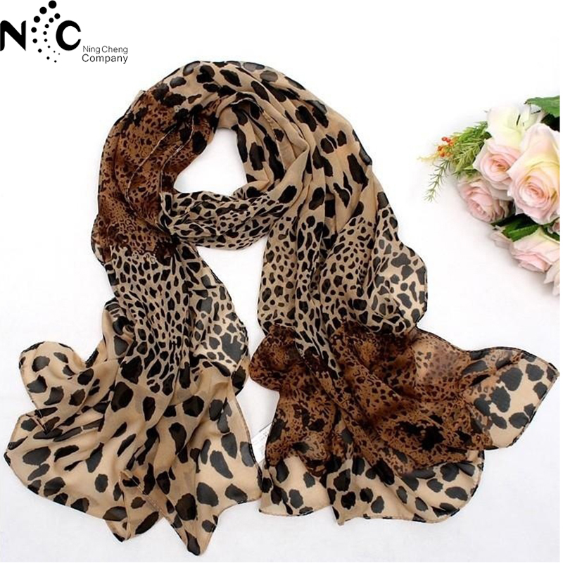 Spring Coffee Black Leopard Print Square   Scarves   Printed 2019 New Design Crepe Satin Silk Winter Ladies   Scarves     Wraps   157*73cm