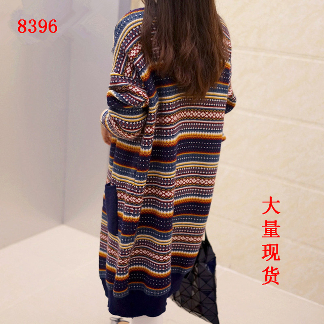 2016 autumn and winter new large size maternity sweater cardigan jacket thickening casual long sweater women's jacket