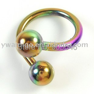 50pcs Sprical Ring BCR CBR/Tongue/Horseshoes mix colors and styles body piercing jewelry Free shipping