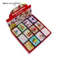 24Piece Lot Small Tin Box Tea Mac Lipstick Organizer Makeup Storage Box Floral Picture Jewelry Case