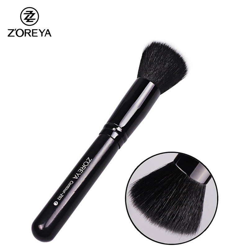 New Professional Flat Contour Brush Goat Hair Multifunctional Make Up Brushes As Beauty Makeup Tool Cosmetic Kit Maquiagem new portable flat contour makeup brush used with powder blusher concealer make up brushes as beauty cosmetic tool maquiagem