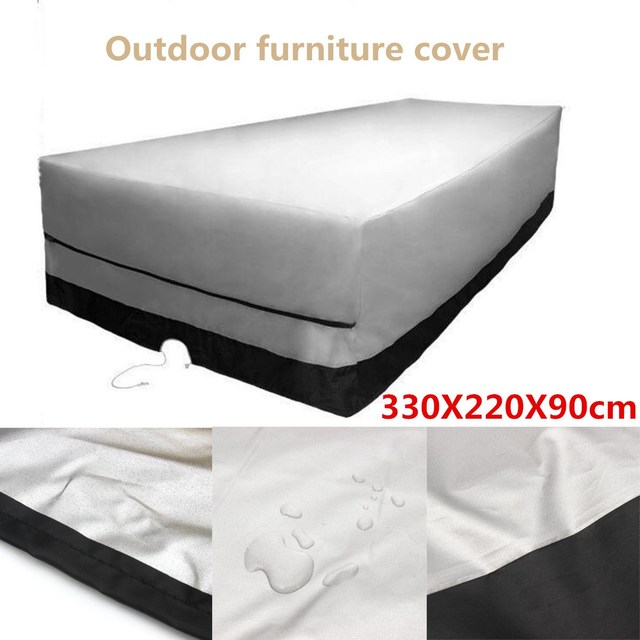black patio furniture covers. Garden Outdoor Furniture Cover 330X220X90cm Rect Patio Table Desk Chair Waterproof Black Color 600D Dust Rain Covers E