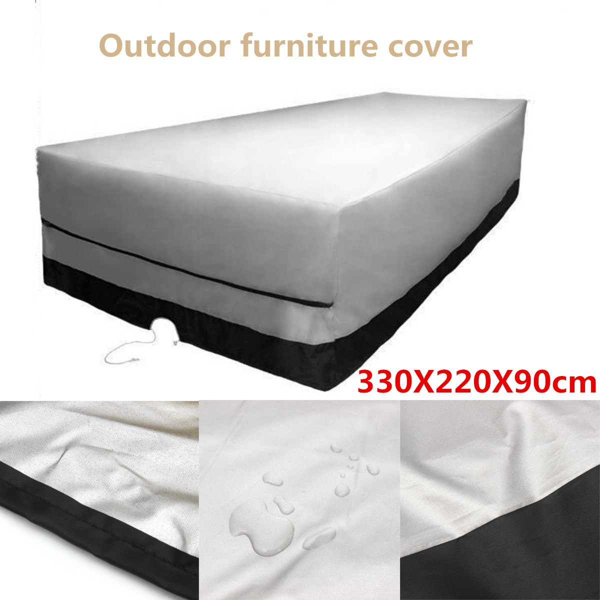 outdoor garden furniture cover rect patio table desk chair waterproof black color 600d dust rain - Patio Chair Covers