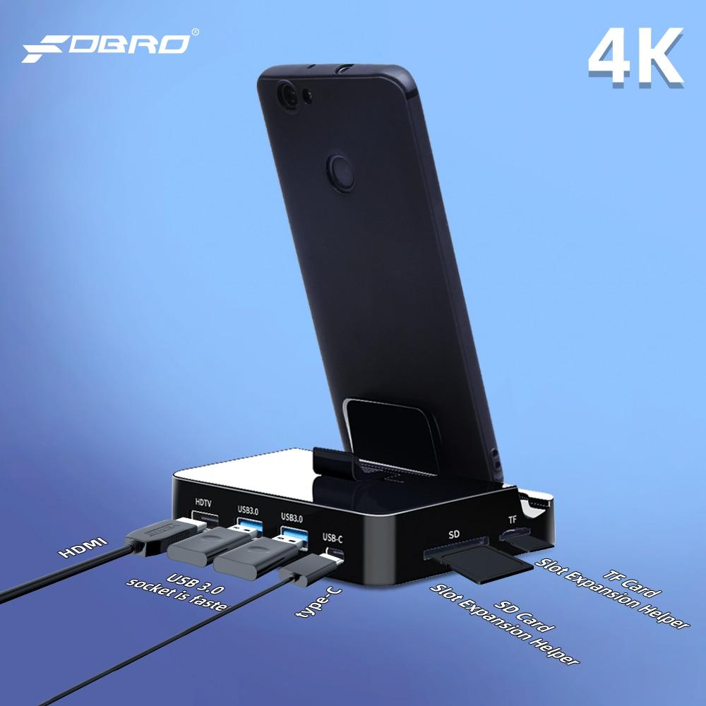 Adaptador de corriente FDBRO USB a HDMI para Huawei P30 P20 Pro USB tipo C HUB para samsung S10 S9 Dex de estación