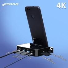 FDBRO USB إلى HDMI قفص الاتهام محول الطاقة لهواوي P30 P20 برو USB نوع C محور محطة الإرساء لسامسونج S10 S9 Dex الوسادة محطة