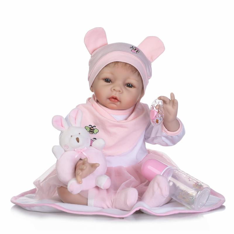 Silicone reborn baby dolls 2255cm Bebes reborn girl real alive newborn babies dolls toys for children gift bonecasSilicone reborn baby dolls 2255cm Bebes reborn girl real alive newborn babies dolls toys for children gift bonecas