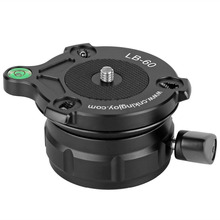KINGJOY LB-60 Skilled Tripod Leveling Ball Head Base with Bubble Degree for Canon/Nikon/Different DSLR Cameras