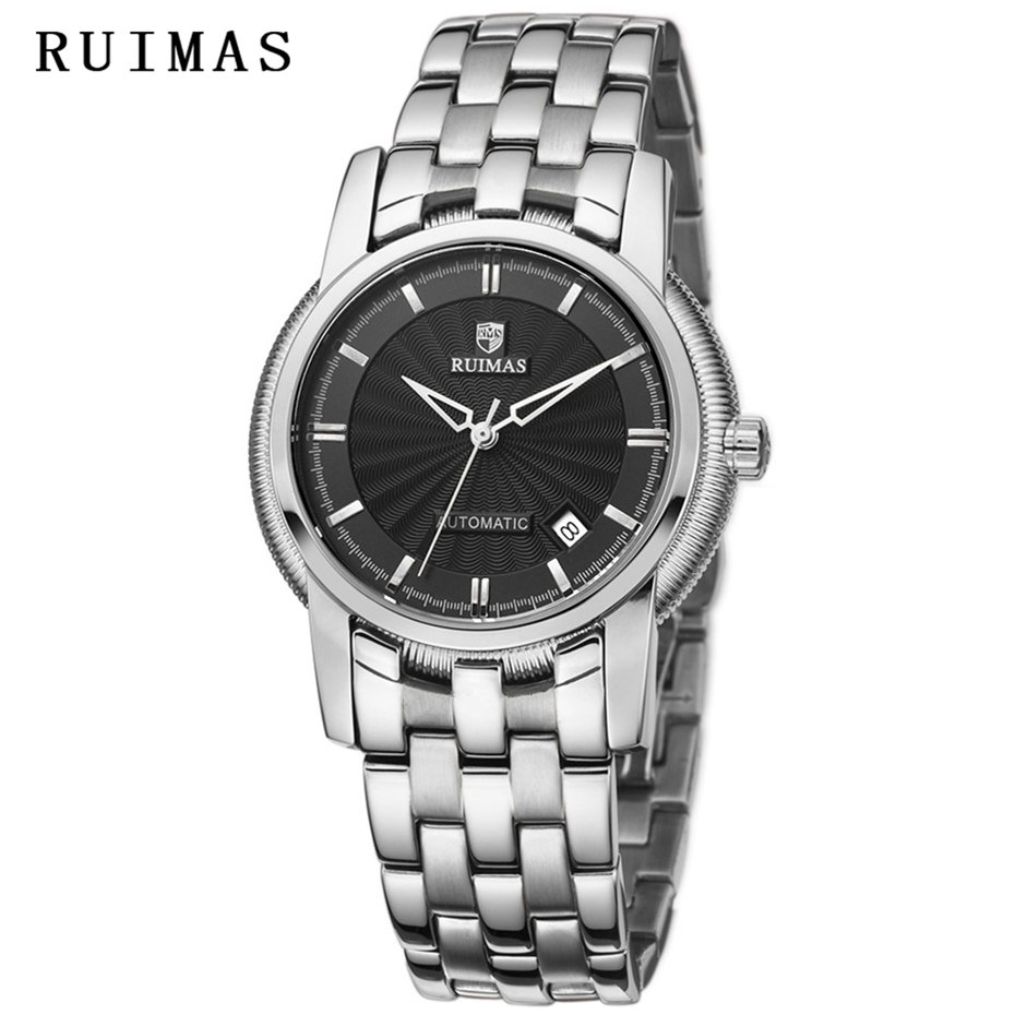 Reloj Hombre 2018 Men Luxury Business Watch Automatic Mechanical Watches Mens Classic RUIMAS Brand Male Stainless Steel Clock business men classic luxury watch automatic mechanical watches mens hours ruimas top brand male steel clocks relogio masculino