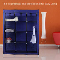 Newest Modern Household 3 Column 5 Layers Wardrobe Closet DIY Non Woven Fabric Portable Folding Storage Combination Cabinet