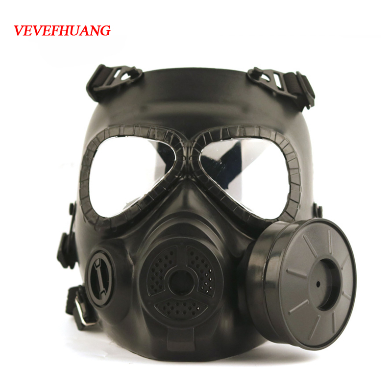 Vevefhuang Tactical Head Gas Masks Resin Full Face Fog Fan For Cs Wargame Airsoft Paintball Dummy Cs Field Gas Mask For Cosplay Costumes & Accessories Kids Costumes & Accessories