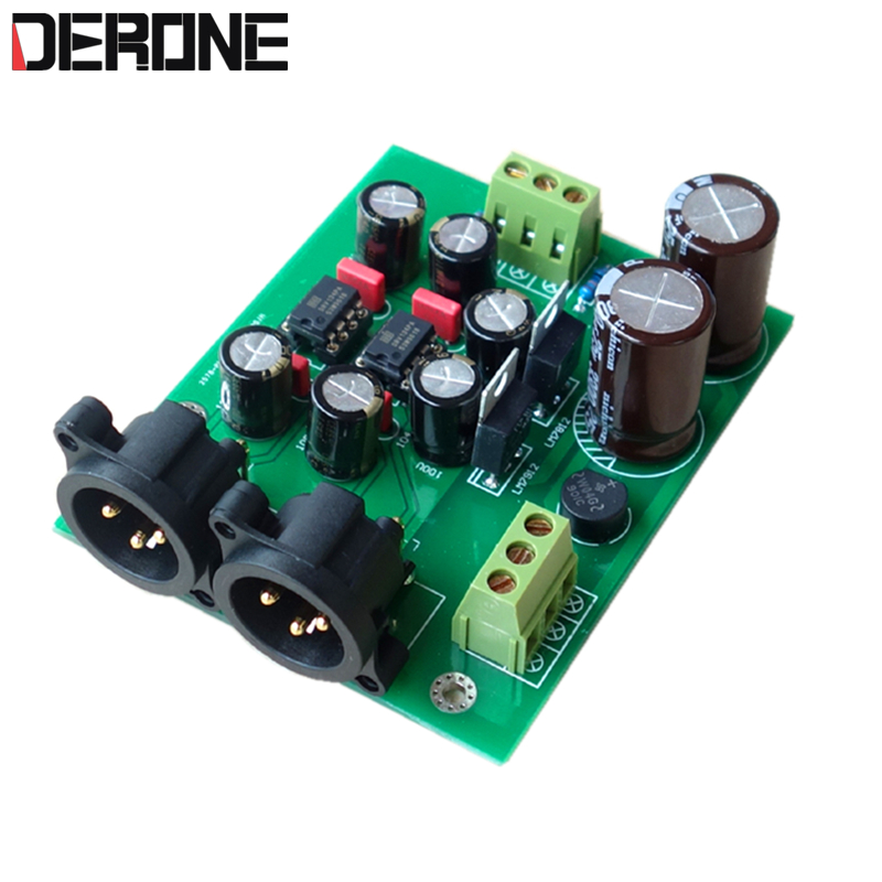 Unbalanced To Balanced DRV134PA Dual-channel Single-ended Converter Balance Output Board /kits /PCB Free Shipping