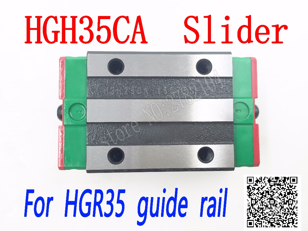 High quality HGH35CA HGW35CC slide block match use HGR35 linear guide HGH35 CA head guide for linear rail CNC diy parts linear guide rails hgh hgl egh15 20 25 30 35 sa ha ca