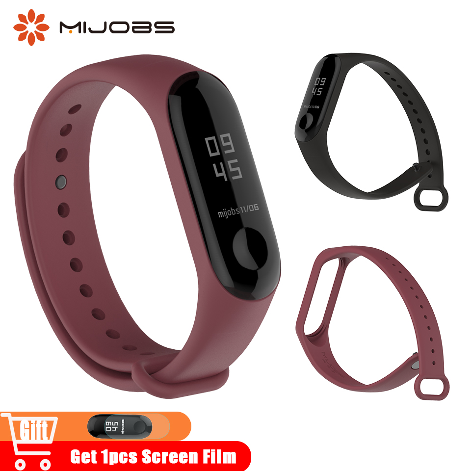 Mijobs Mi Band 4 Strap Silicone Accessories For Xiaomi Mi Band 3 Wrist Bracelet Watch Wristband Miband 3 Original Straps MiBand4