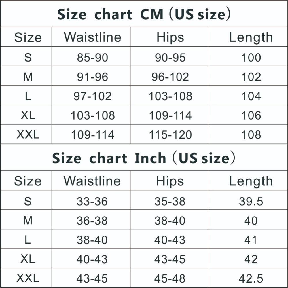 Size chart CM