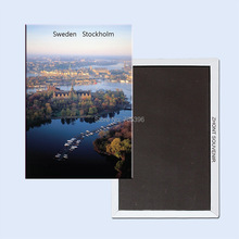 FREE shipping over $12 Sweden Stockholm City View Tourist Metal Fridge Magnet 5351
