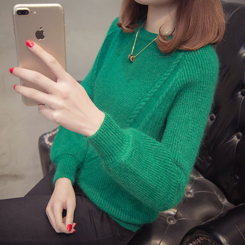Women pullover female sweater fashion autumn winter warm sweater bottoming casual loose knitted tops woman slim