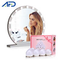 LED Vanity Mirror Lights Hollywood Style Makeup Lamp Vanity Table Light Bulbs 10PCS USB Charging with Original Box 3 Modes Light