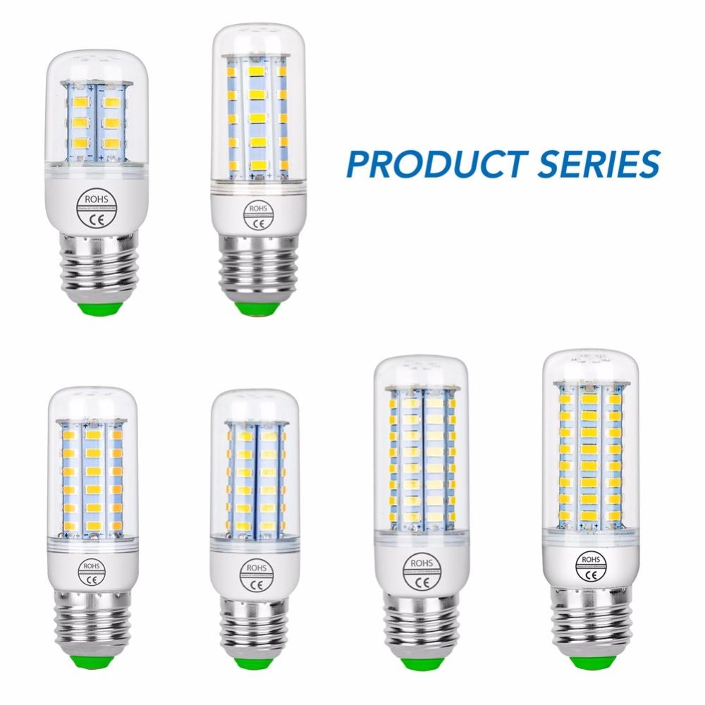 10PCS Ampoule LED E27 220V E14 LED Lamp Corn Bulb SMD5730 Energy Saving Lighting Home Bombillas LED For Indoor Chandelier Candle