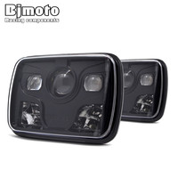 BJMOTO 60W Car Headlamp Day Running Lights Spotlight for Jeep Wrangler Headlight Accessories IP67 Driving Light Auto Led Lamp