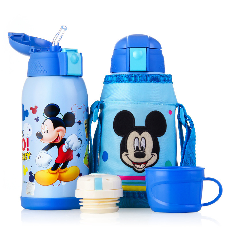 Disney Vacuum Cup 600ml Double Head Replacement Kettle Disney Cartoon Pattern Children's Insulation Pot Embroidery Cup Set цены онлайн