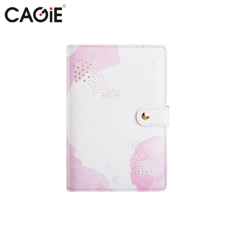 Diary for Girls Cute Notebook a6 Spiral Binder Leather Journal Kawaii Dividers Planner Personal Travel Diary Filofax Sketchbook