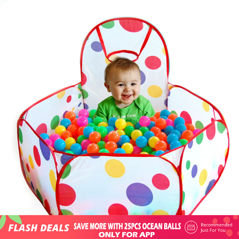 US $7 71 35% OFF|Playpen for Baby Children Ocean Ball Pool Baby Play Tent  Outdoor Game Pool of Balls Manege for Children Playing Pool Tent Cabin-in