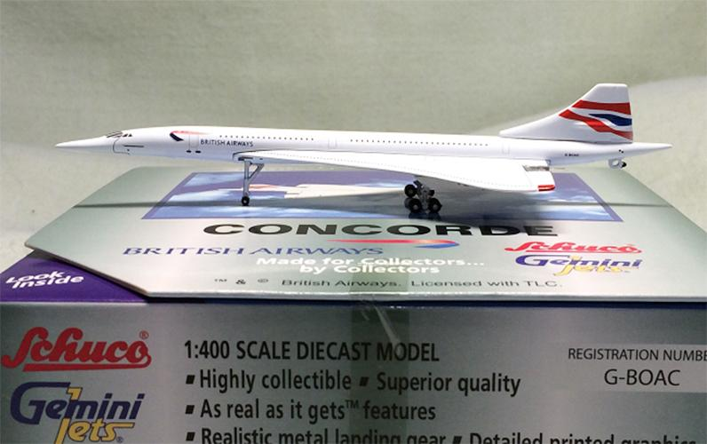 Concorde G-BOAC 1:400 Airlines Metal Die Cast Plane Aircraft Airplane Model