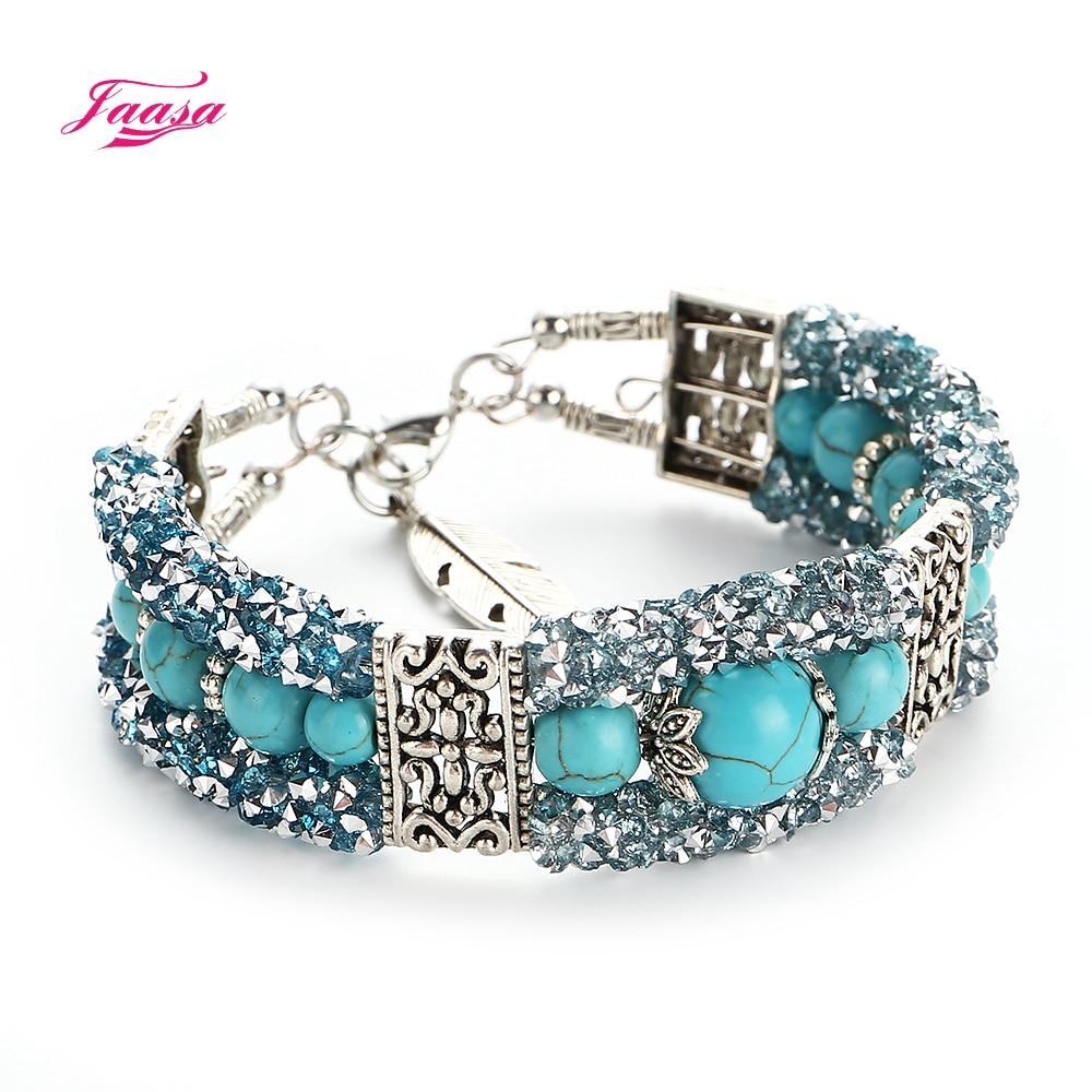 jaasa trendy women bracelet natural stone crystal bead. Black Bedroom Furniture Sets. Home Design Ideas
