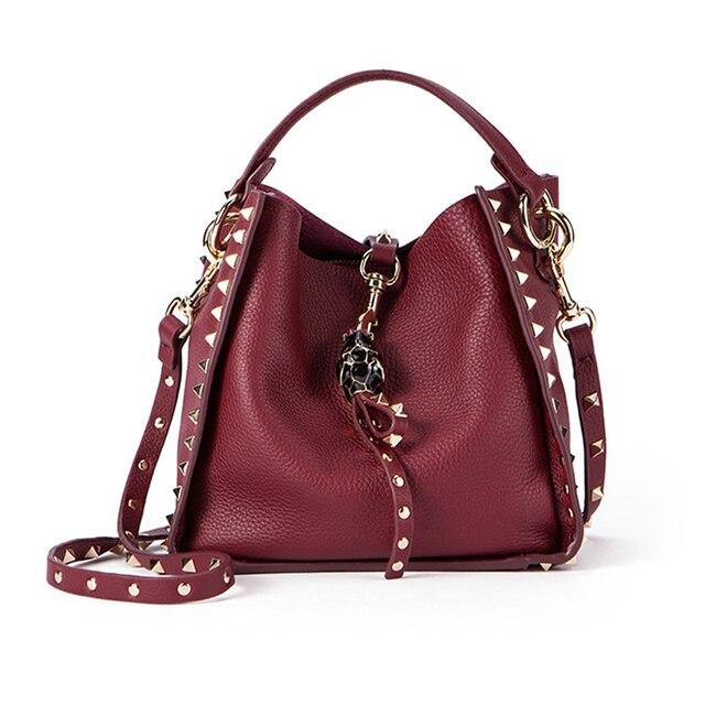 a981de3fa69c 2018 New Spring Fake Design Women Handbag with Purse Leather Female  Shoulder Bag Rivet Vintage Shopping