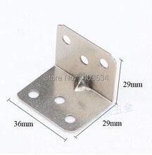 2 шт. 29*29*36 мм никель отделка Железа угол кронштейн Т-образной формы рамы доска поддержки