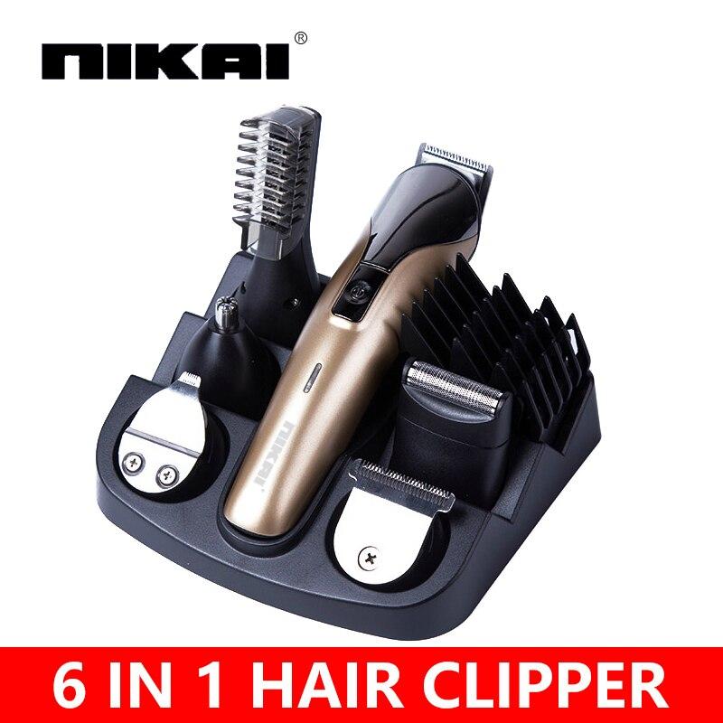 6 In1 Cheveux machine de coupe de cheveux clipper tondeuse la barbe tondeuse machine pour coupe barber coupe de cheveux machine tondeuse