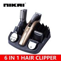 6 In 1 Hair Clipper Hair Trimmer Beard Trimmer Hair Cutting Machine Maquina Tondeuse Hair Cut