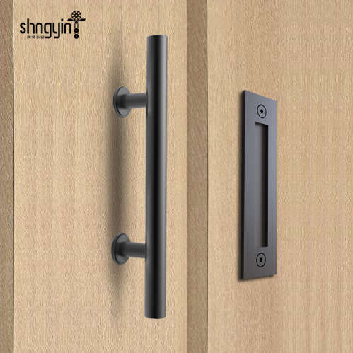 Diyhd 12 Quot Rustic Black Stainless Steel Barn Door Handle