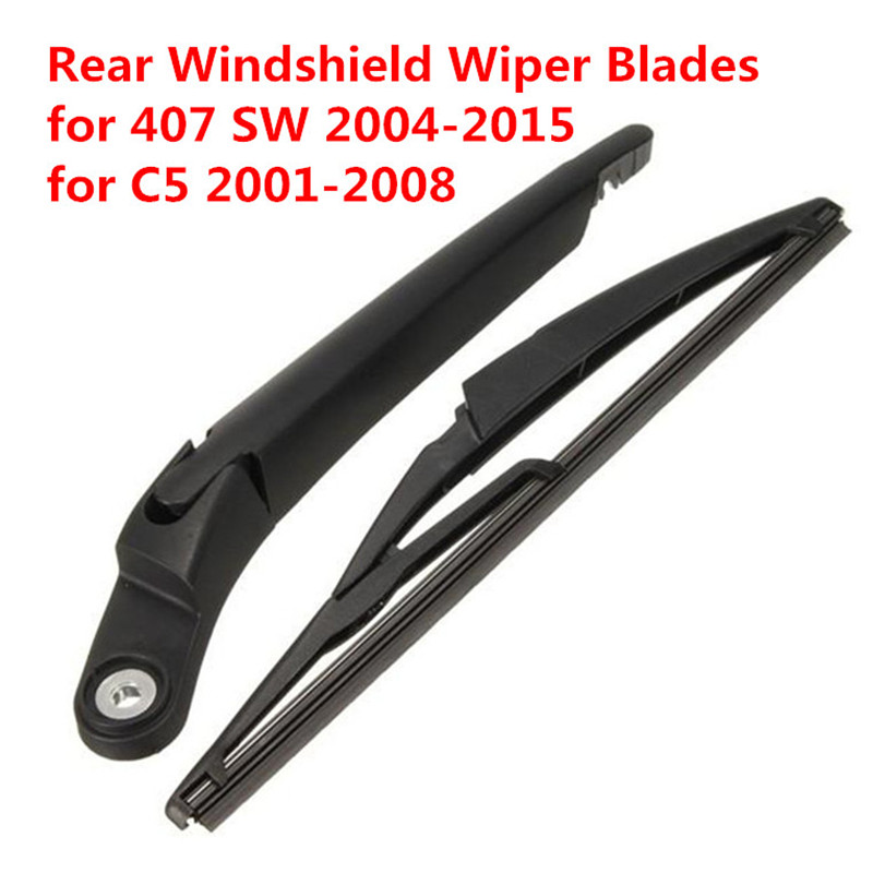 Rear Windshield Wiper Blades for Citroen C5 2001-2008 for Peugeot 407 SW 2004-2015 Refill Brushes for Car Janitors Washer
