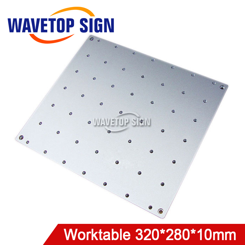worktable panel for laser mark machine size 320x280x10mm Hole 25x25mm m6 fiber laser mark machine lift worktable laser mark machine lead head up and down system lift system height 600mm 800mm