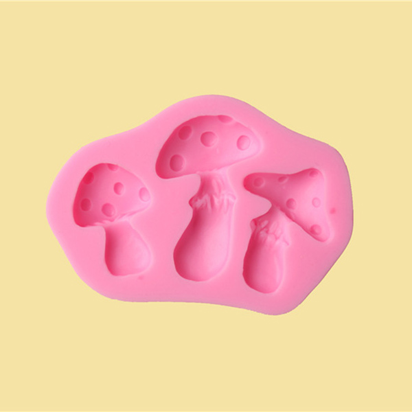 Cupcake Design Kitchen Accessories: Silicone Mushroom Shape Cake Mould Fondant Emboss