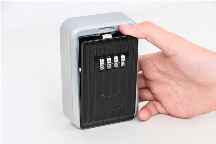 Key Safe Box Home Factory Office Outdoor Key Storage Box Wall-mounted Password Combination Security Keys Hold Lock Safes (6)