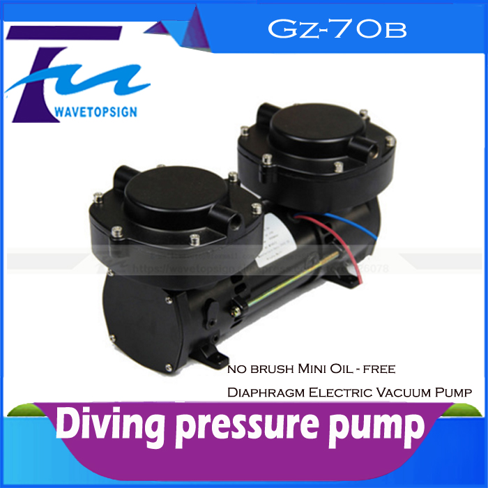 160W / 12V Brushless Miniature Oil - free diaphragm electric vacuum pump Diving pressure pump GZ-70 GZ-70B букет больше чем любовь