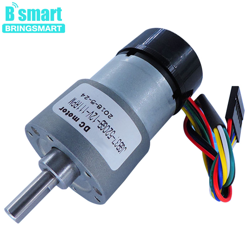 Bringsmart DC Geared Motor 520GB 12V Micro Electric Encoder 1600rpm Gear Reduction Motor Encoder 12rpm Large Torque Low NoiseBringsmart DC Geared Motor 520GB 12V Micro Electric Encoder 1600rpm Gear Reduction Motor Encoder 12rpm Large Torque Low Noise