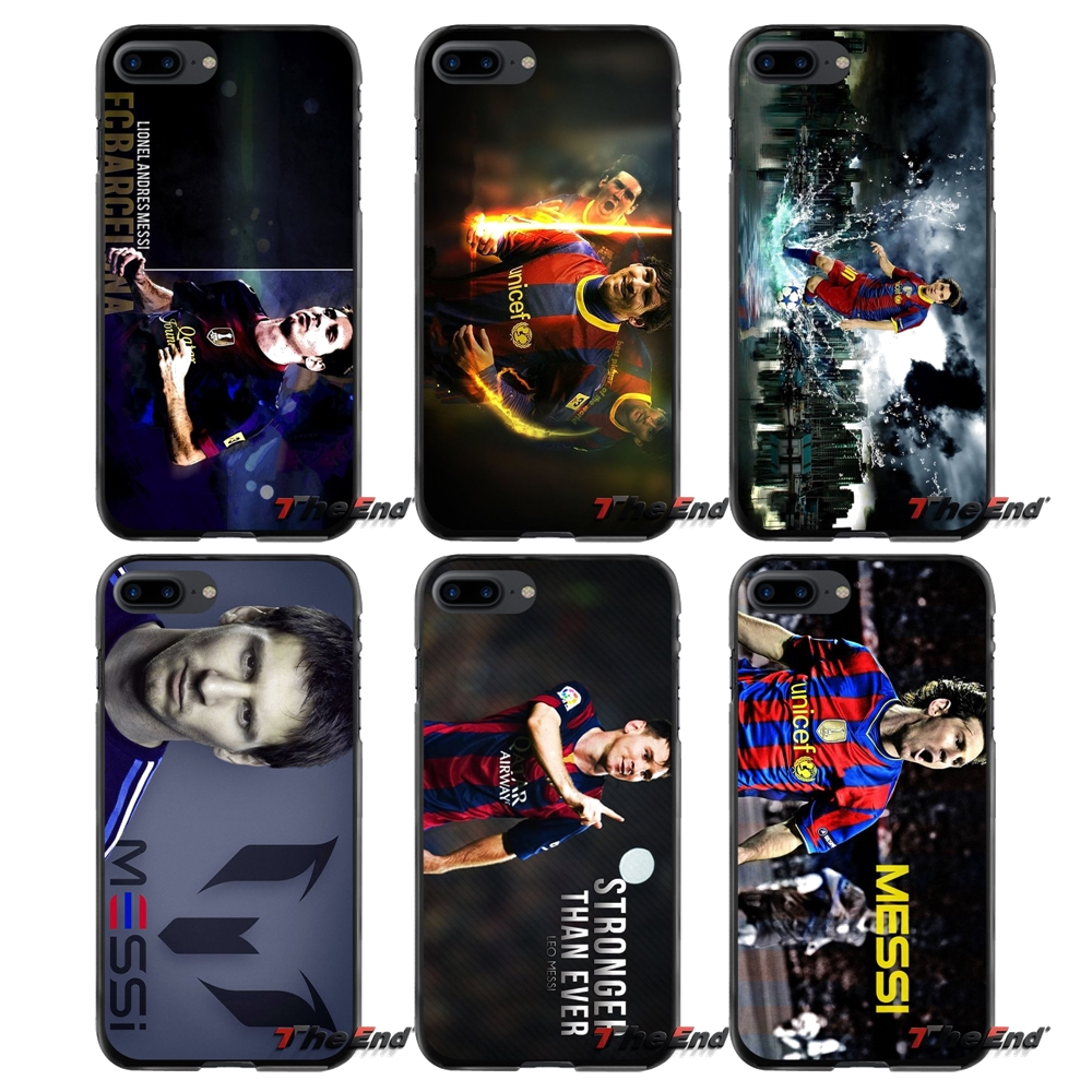 For Apple iPhone 4 4S 5 5S 5C SE 6 6S 7 8 Plus X iPod Touch 4 5 6 Lionel Messi Soccer Accessories Phone Shell Covers
