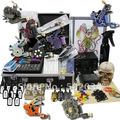 Tattoo Kit Dual LCD Power 8 Machines Guns 8 Grips Needles Machine  Supply free shipping