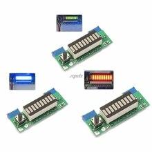 Модуль индикатора емкости литиевого аккумулятора LM3914 3,7 в, тестер, плата со светодиодным дисплеем, интегральные схемы, оптовая продажа и Прямая поставка